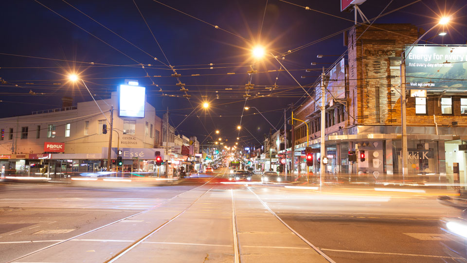 Camberwell Junction at night