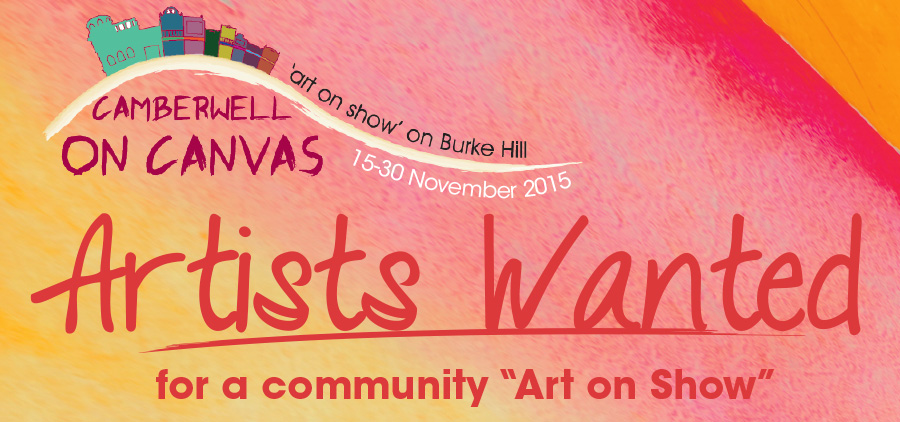 artists wanted camberwell on canvas 2015 banner