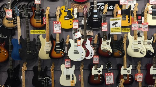 Guitars at Music Junction in Camberwell