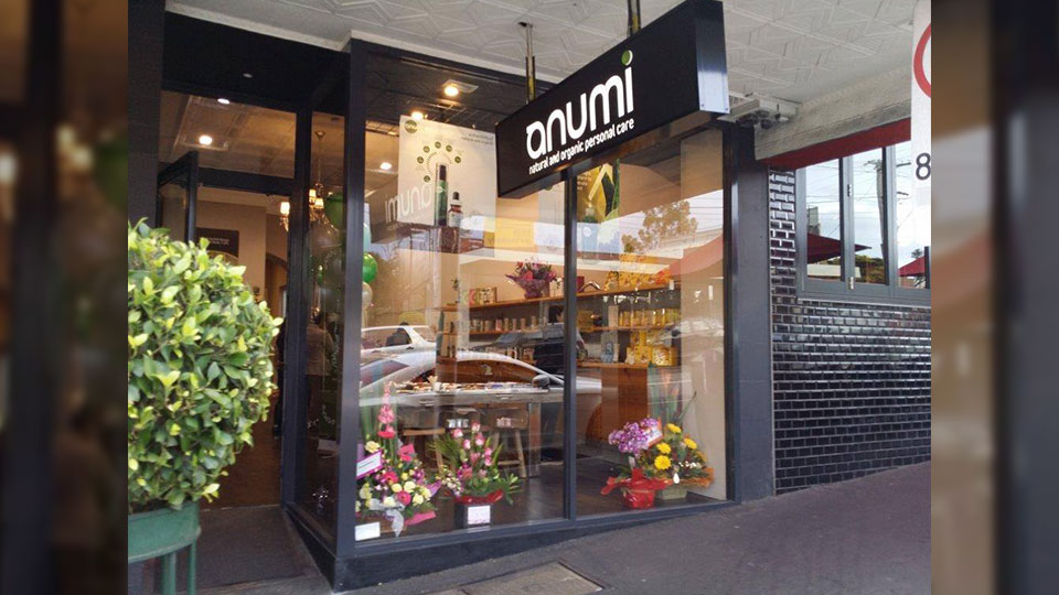 Anumi Camberwell Shop front