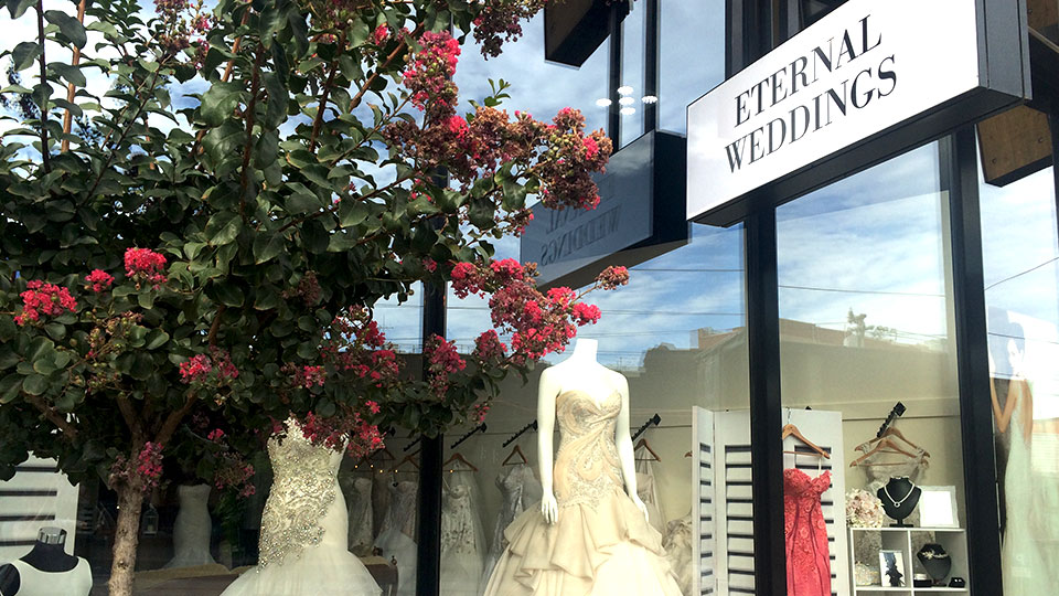 Eternal Weddings - exterior of store
