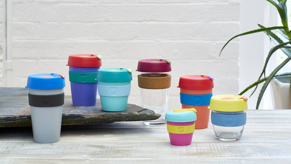 A reusable cup, such as a Keep Cup, is a great way to enjoy a coffee without waste. Image: Facebook.