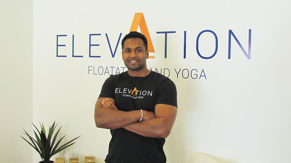 Dinuka Bandara - Director and co-founder of Elevation Floatation and Yoga.