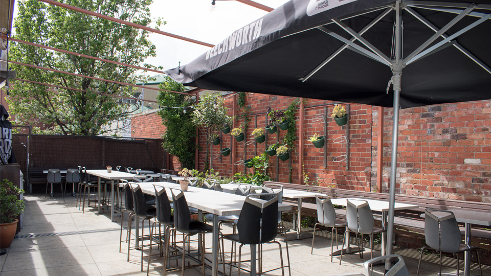 Beer garden at Cafe Paradiso in Camberwell