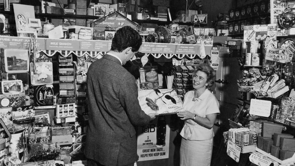 History and heritage: Mrs Adler in the early days of The Chocolate Box. Image credit: The Chocolate Box.